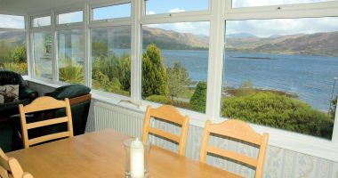 Strathardle has a large conservatory from which there are panoramic sea nd mountain views.