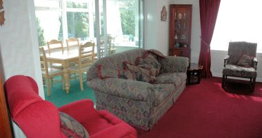Strathardle has a large comfortable lounge adjacent to the conservatory.