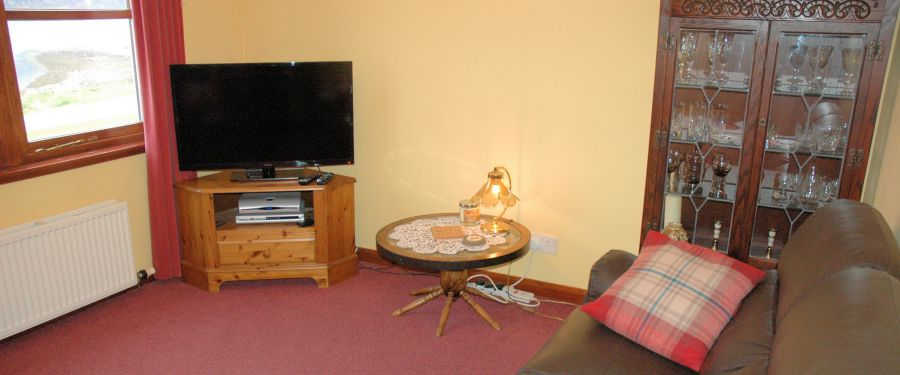 There is a comfortable lounge in Tarlogie with large flat-screen TV and excellent views south from the window.